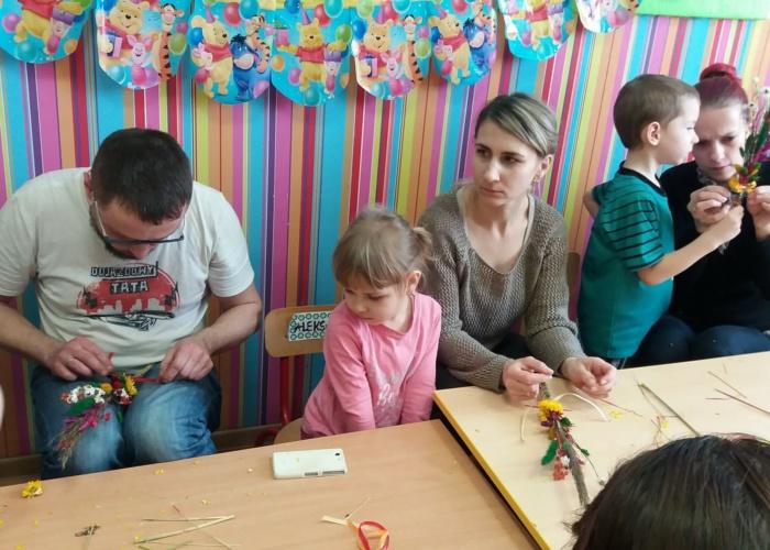 Przedszkole Pszczółka w Lublinie, wielkanocne warsztaty z rodzicami